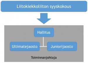 Liitokiekkoliiton rakenne