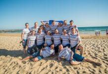 Suomen Master Mixed -maajoukkueen virallinen joukkuekuva. Kuva: EBUC2019